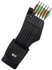 Cuir synthétique côté / hip main gauche carquois avec pocket archery products saq142.