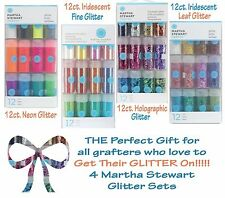 Martha Stewart Lot of Four (4) Glitter Collections