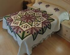 NEW! AMISH HANDMADE QUILT! ~ Improved Broken Star ~ 96 x 116