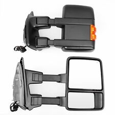 US For 08-15 Ford F250 F350 Telescoping Tow Mirrors Power Heated w/Signal LH+RH