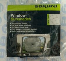 2 x Sakura Car Window Sunshade Protector Mesh Screen Visor Baby