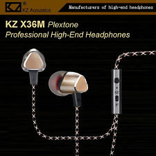 KZ X36M Plextone Pro High-End In-Ear Kopfhörer/Headset Ohrhörer Hammerbass Gold