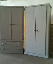 HANDMADE AYLESBURY SET OF 2 WARDROBES (GREY) NOT FLAT-PACK!!!