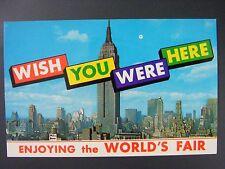 New York World's Fair Empire State Bldg Multiview Postcard 1964-65 Vtg