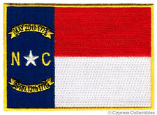 NORTH CAROLINA STATE FLAG embroidered iron-on PATCH new APPLIQUE