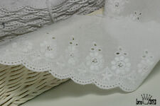 """14Yds Embroidery scalloped cotton eyelet lace trim  2.9"""" YH835 laceking2013"""
