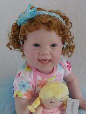"""Reborn 25"""" toddler girl doll """"Kenzie"""" w. full vinyl limbs, head and upper torso-"""