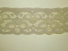 5 Metres length of Coffee Brown Single Edge Lace - Approx. width 35mm (3.5cm)