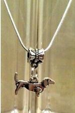 Dachshund Necklace Pendant Chain Sausage Dog Vintage, UK Seller