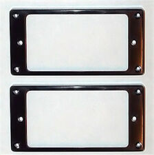 Guitar Parts Humbucker Pickup MOUNTING RINGS Trim Bezels - Set of 2 - BLACK