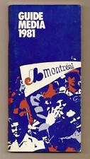 1981 Montreal Expos Media guide MLB Baseball