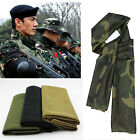 Tactical Camouflage Scrim Scarf Face Veil Mask Woodland Sniper Cover Head Scarf