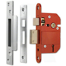 "ERA Fortress 26251 BS 5 Lever Sashlock 64mm(2.5"") Satin Chrome Mortice Door Lock"