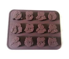 Cute Owl Bird Silicone Chocolate Candy Candle Soap Crayon Ice Mold Baking Mould