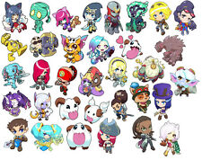 Choose any 7 Stickers! Mix & Match League of Legends Art Sticker Collection