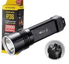 Nitecore P36 2000 Lumens Cree MT-G2 LED Flashlight - Use 2x 18650