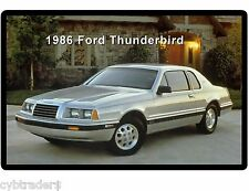 1986 Ford Thunderbird  Auto Refrigerator / Tool Box  Magnet Gift Card Insert