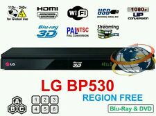 LG BP530 BLU-RAY 3D PLAYER  MULTI REGION CODE FREE (ABC) with WiFi Support