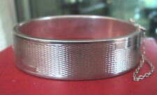 Attractive Sterling Silver Bracelet / Bangle h/m 1957 -  Art Deco Design
