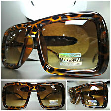OVERSIZE RETRO 80's VINTAGE CLUB RAVE DJ PIMP PLAYER UNIQUE SUN GLASSES Tortoise