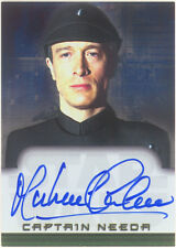 Star Wars EVOLUTION AUTOGRAPH CARD MICHAEL CULVER as CAPTAIN NEEDA Topps'01 RARE