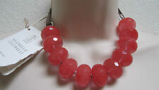 New Brunello Cucinelli Coral Qartz Natural Stones & Silver Jewelry Necklace .