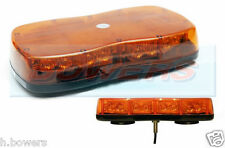 12V/24V 1 SINGLE POINT/BOLT ON MINI SLIM LED FLASHING AMBER LIGHT-BAR BEACON-BAR