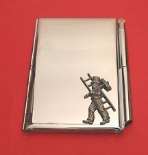 Chimney Sweep Chrome Notebook / Card Holder & Pen Wedding Bridegroom Gift