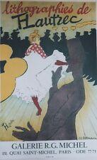 """""""LITHOGRAPHIES de TOULOUSE-LAUTREC"""" Affiche originale entoilée Litho  48x71cm"""