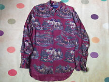 ralph lauren  hipster shirt medium hunting scene rare