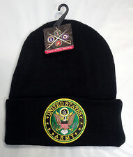 US Army Embroidered Cuffed BEANIE Knit Hat Skull Cap Watch Infantry Airborne Vet