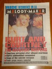 MELODY MAKER 1994 APRIL 23 COBAIN CONSPIRACY BLUR SENSER ELASTICA