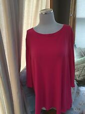 Jules & And Leopold Pink Exposed Zipper Top Tunic 1X Excellent