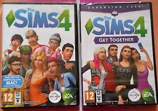 Les sims 4 + get together expansion pc dvd-rom jeux new & sealed box versions