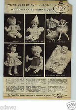 1962 PAPER AD Doll Mattel Chatty Baby Black Belle Casper Matty Horsman Cute Baby