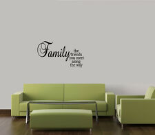 FAMILY THE FRIENDS YOU MEET ALONG THE WAY HOME DECAL STICKER  WALL ART LETTERING
