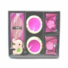Pink Rose Incense, Cones & Candle Elephant Gift Set Box Teacher / Mum Present