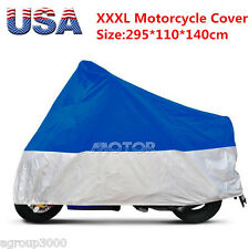Silver + Bule XXXL Motorcycle Outdoor Cover for Yamaha Road Star VStar 1100 1300