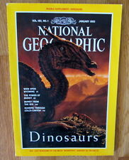 National Geographic Magazine Jan 1993 Dinosaurs & Wyoming EXCELLENT Free Ship