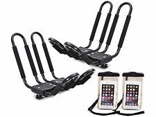 2 x Roof J Rack Kayak Boat Canoe Car SUV Top Mount Carrier w/Free Cell Phone Bag