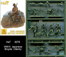 1:72 personaggi 8278 WWII Japanese Bicycle Infantry-Gil