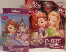 Sofia The First Jumbo Playing Cards & Sofia The First Puzzle on the Go Fast Ship