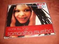 SAMANTHA MUMBA - Gotta tell you (Maxi-CD)