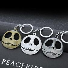 Nightmare Pumpkin King Santa Jack Keychain Skull Head Skellington Men Key Chain