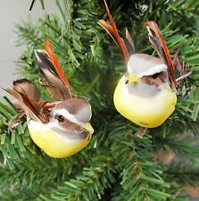 ***NEW*** 2 Woodland Feathered Clip on Birds in Flight