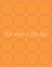 "6 SHEETS 2"" ROUND BLANK FLUORESCENT ORANGE STICKERS LABELS PERSONALIZE"