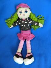 "The Childrens Place Pals Plush Doll 13"" Green Hair Braids Soft Cloth ~EXCELLENT!"
