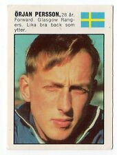 Panini Williams Forlags Swedish card Mexico 1970 22 Orjan Persson Sweden Rangers