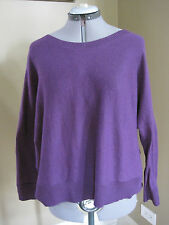 NWT Eileen Fisher Org Cotton Knit Purple Box Top Size XS