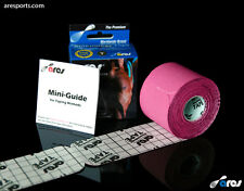 Ares Tape Precut - Kinesiology Elastic Sports Tape PRO - Pink - Support KT